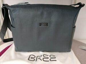 BREE - Nola 3 Umhängetasche, Leder, grau (stone) neu