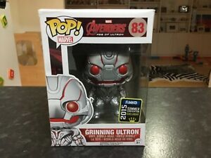 FUNKO POP! MARVEL AVENGERS AGE OF ULTRON #83 GRINNING ULTRON 2015 SDCC EXCLUSIVE