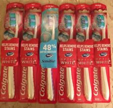 Lot of 6 Colgate Toothbrushes Optic White & Sensitive ~ Soft, Extra Soft, Medium