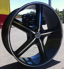 "22"" INCH U255 BM WHEELS AND TIRES 5X127 IMPALA SS CAPRICE GRAND CHEROKEE C10"