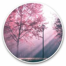 2 x Vinyl Stickers 30cm - Pink Sunlit Mystical Forest  #46112