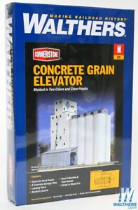 NEW Walthers 933-3225 ADM (R) Grain Elevator Kit N Scale Train FREE US SHIP