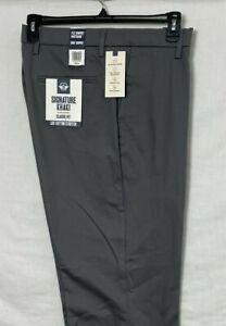 Dockers Signature Khaki Pants Size 38 X 34 Classic Fit Lux Stretch Cotton Gray