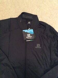 Salomon Agile Black Running Jacket (L)