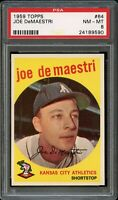 1959 Topps BB Card # 64 Joe DeMaestri Kansas City Athletics PSA NM-MT 8 !!!