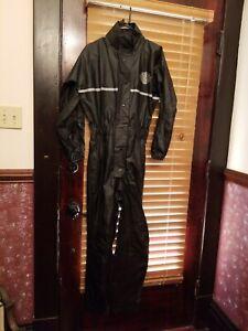 Harley Davidson Women's One Piece Black Reflected Rain Suit XXS