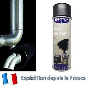 Peinture haute température 800° aérosol Noir Mat 1 X Bombe de peinture HT 800°