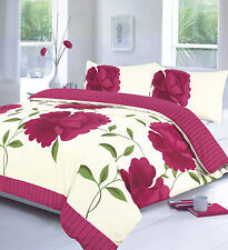 Duvet Cover With Pillow Case Quilt Cover Bedding Set 4size Top Q Rosaleen Pink Super King