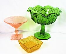 Collection Of Mid-century Pressed Glass Compote & Candy Dishes – Great Craftsman