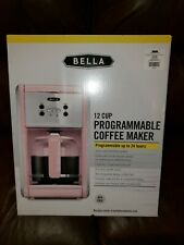 NRFB Bella PINK 12 Cup Programmable COFFEE MAKER MIB