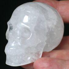 BERGKRISTALL Quarz Kristallschädel SKULL 51 x 39 x 36mm Steingravur mit Fehlern