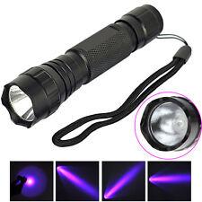 501B CREE LED Mini Flashlight 365NM 18650 Strong UV Light Torch Lamp Blacklight