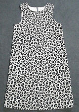 Gymboree Tres Chic Dress 9 Girls Black Grey Leopard Cheetah Jumper EUC