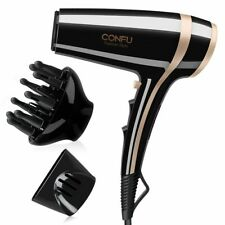 2200W Hair Dryer with Diffuser, CONFU Powerful Hairdryer Fast Drying Blow Hair-D