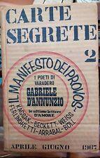 Carte Segrete 2 - Il Manifesto dei Provos Aprile-Giugno 1967- Domenico Javarone