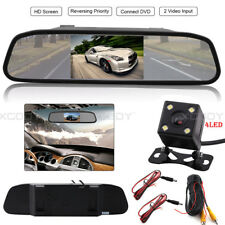 "4.3"" Car TFT LCD Mirror Monitor+Wired Reverse Car Rear View Backup Camera Kit"