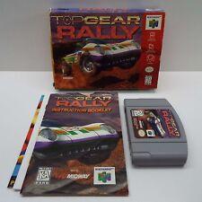 TOP GEAR RALLY (NINTENDO 64) BOX + GAME + BOOKLET (LOOK DESCRIPTION) E300