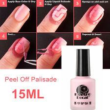 Nail Art Peel Off Palisade Base 15ml Coat Liquid Tape Manicure Polish Clean pink
