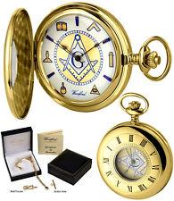 Woodford Masonic Half Hunter Pocket Watch 17 Jewel Polished GP Free Engrave 1110