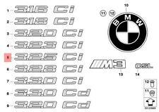 Genuine BMW E46 Trunk Lid Chrome 325Ci Emblem Badge Logo Sign OEM 51147025253