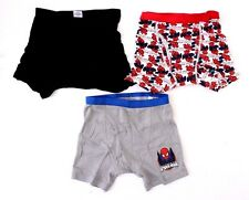 Marvel Comics Spider-Man Kids Boys Navy 3 Pack Underwear Boxer Briefs Size 6