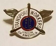 VintageTransport Workers Union AFL CIO  Union Made Gold Tone Pin Pinback