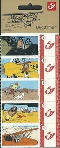 "Belgium**TINTIN-""In Danger on Planes-Booklet 5duo stamps-COMICS-Snowy-2007"