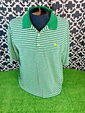 Masters Collection Augusta National Green White Striped Polo - Sz. Xl