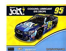 """2017 MICHAEL MCDOWELL """"JOLT MARTINSVILLE"""" #95 NASCAR MONSTER ENERGY POSTCARD"""