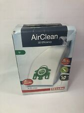 Genuine Miele UVacuum Cleaner Bag AirClean 3D Efficiency Upright 4 Bags 2 Filter