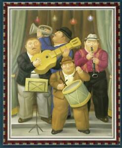"Art OIL PAINTING REPRO OF FERNANDO BOTERO Fat Man ON CANVAS 30""X40"""