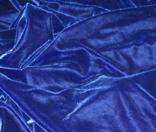 SMOOTH BLUE 4-WAY STRETCH VELVET VELOUR DANCE COSTUME FABRIC REMNANT