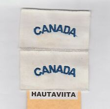 """WW2 Canada RCN Navy Summer Jacket Patches """"Canada"""" Blue /White Unissued Pair"""