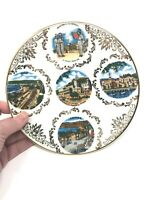 Vintage porcelain Fait Main plate Southern French Cities: Nice, Monte Carlo, etc