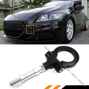 FOR 2008-2019 HONDA FIT JAZZ 2011-2016 CRZ BLACK FRONT FOLDING SCREW ON TOW HOOK