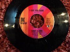 """SONNY AND CHER I Got You Babe 7"""" VINYL US KAPP 1972"""