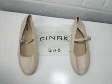 CINAK Womens Mary Jane Flat Shoes Classic Buckle Sz 11 NEW