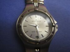 ANNE KLEINWATER RESISTANT 100FT BRACELET WATCH WITH DATE DISPLAY