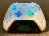 Limited Edition Sport White Xbox One Controller w LED MOD Fortnite COD HALO