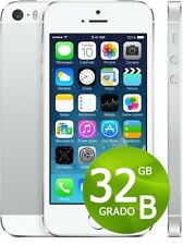 APPLE IPHONE 5S 32 GB BLANCO PLATA PUEDE B ACCESORIOS+GARANTÍA 12 MESES USADO