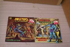 2 Vintage 1983 Masters of the Universe Golden Books Caverns of Fear The Magic