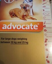 Bayer ADVOCATE  Spot On for Dogs 21- 55 LBS 1 MONTH, 1 tube, FREE SH