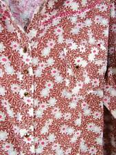Rock 47 Wrangler Top 3XL Brown Floral Pearl Snap Bling Womens Pink Seam