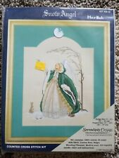 """Serendipity Designs Snow Angel Counted Cross Stitch Kit 9x9"""" MarBek Snow Bunny"""