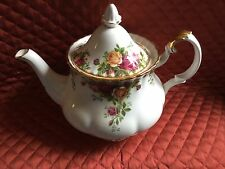 ROYAL ALBERT BONE CHINA LG.6-CUP TEA POT-OLD COUNTRY ROSES-1962-UK-NEW-MINT-$120