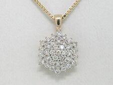 Diamant Brillant Anhänger 585 Gold 14Kt Gold 0,51ct Wesselton