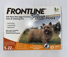 New listing Merial Frontline Plus Flea and Tick Control for 5-22 Pound Dogs 3 pack