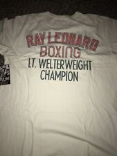 ROOTS OF FIGHT BOXING RAY LEONARD WHITE T-SHIRT XXL 2XL