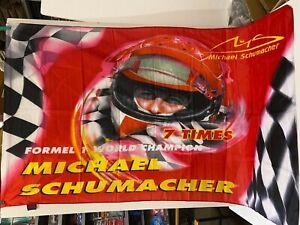 Fahne Michael Schumacher Ferrari Racing  groß F1 Formel1 Grand Prix 140x100cm