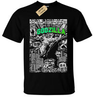 Kids Boys Girls GODZILLA Mens T Shirt SCREEN PRINTED Retro Comic dinosaur gift